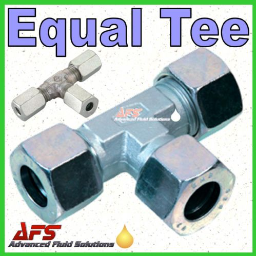 8L Equal TEE Tube Coupling Union (8mm Metric Compression Pipe T Fitting)